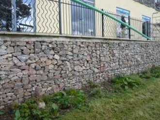 gabions used for walkway