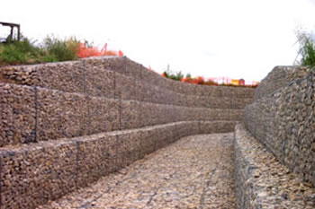 gabion wall design and mattresses