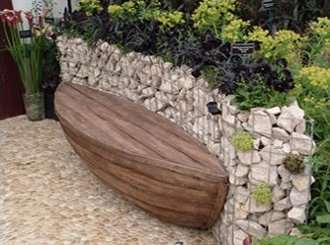 gabions used in garden design
