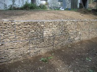 pre gabion wall image post gabion wall image - Gabion Walls Design