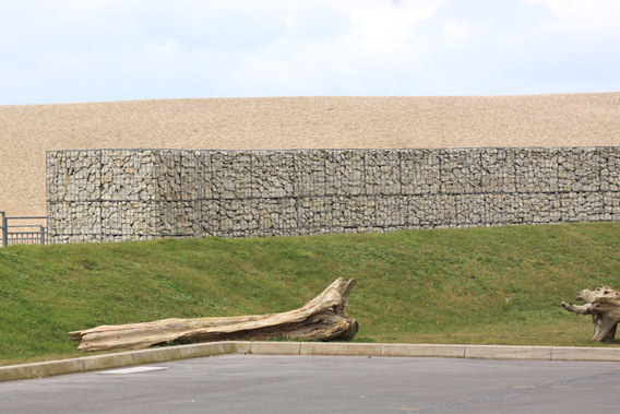 coastal gabion wall