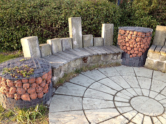 Gabion Baskets In Use