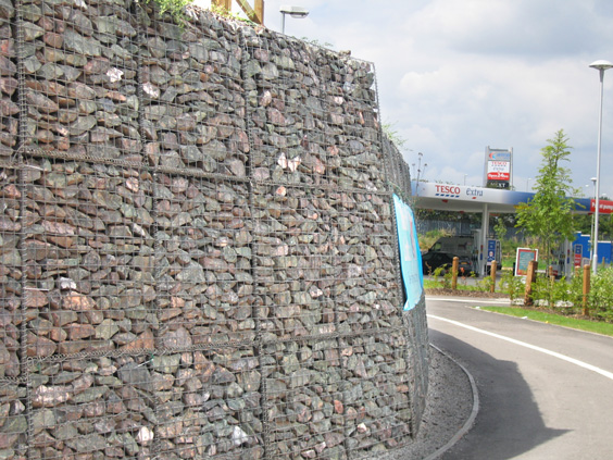 gabion baskets with helicoils