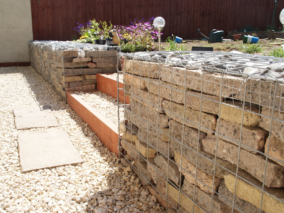 gabion slab wall