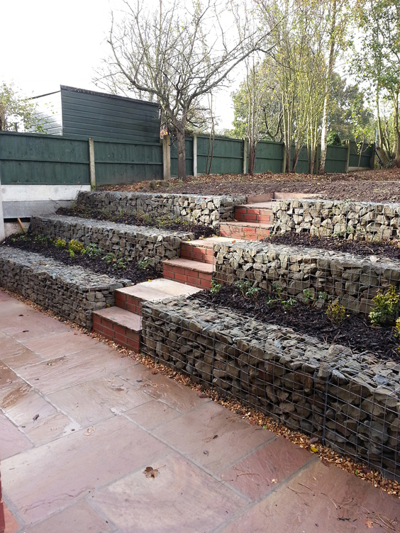 mr gleaves 39 planted garden retaining wall
