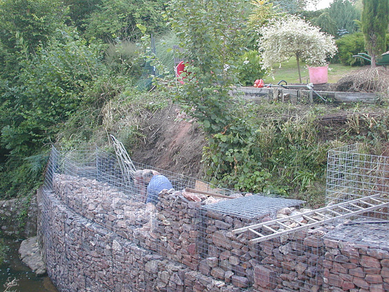 Curved Gabion Wall