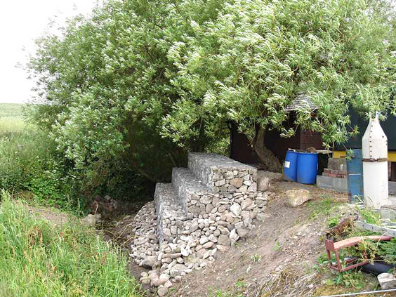 River Bank Repair : River bank repair with gabion baskets