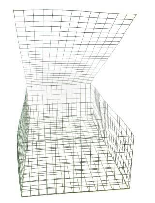 gabion basket 2m x 1m x.5m pvc