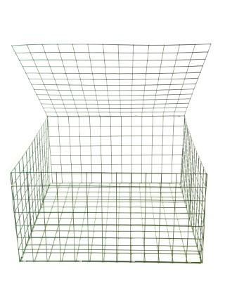 Gabion Basket Green Pvc 3mm 1m X 1m X 0 5m Retaining Wall