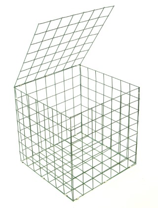 green pvc gabion basket .5mx.5mx.5m