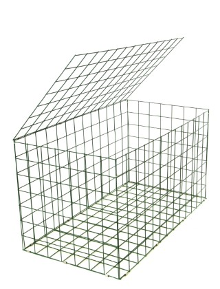 Gabion basket green pvc mm m how to build