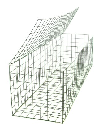 gabion basket green pvc 3mm 2m x 0 5m x 0 5m retaining