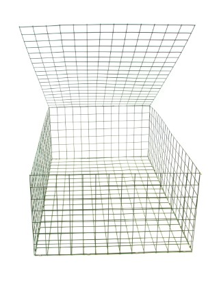 green pvc coated gabion basket 1.5mx1mx.5m