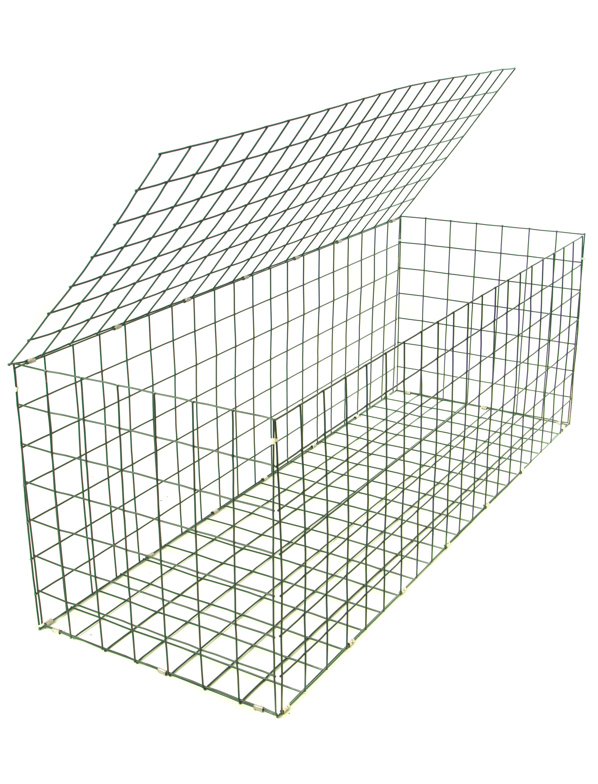 Gabion basket green pvc mm m how to