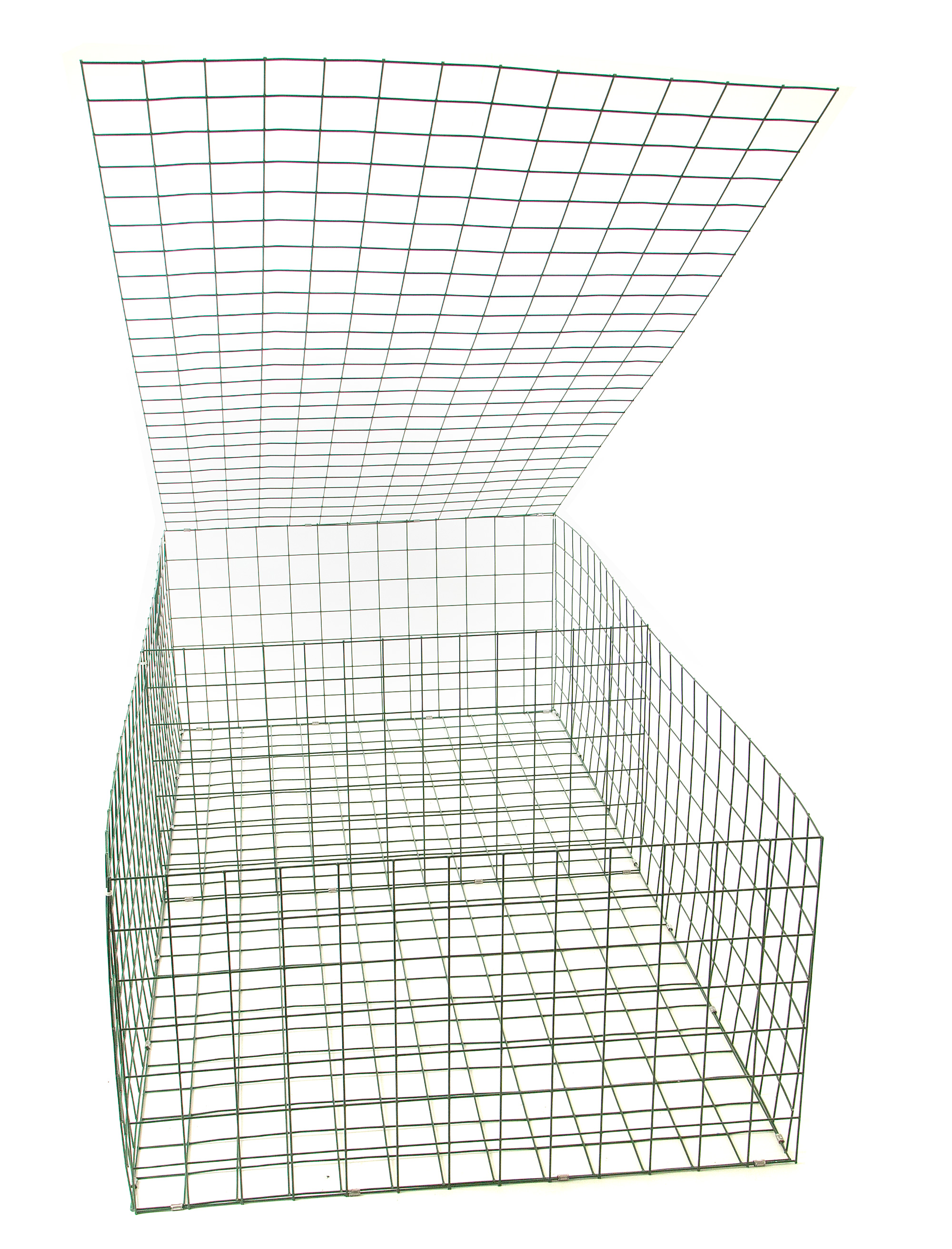 Gabion basket green pvc mm m garden