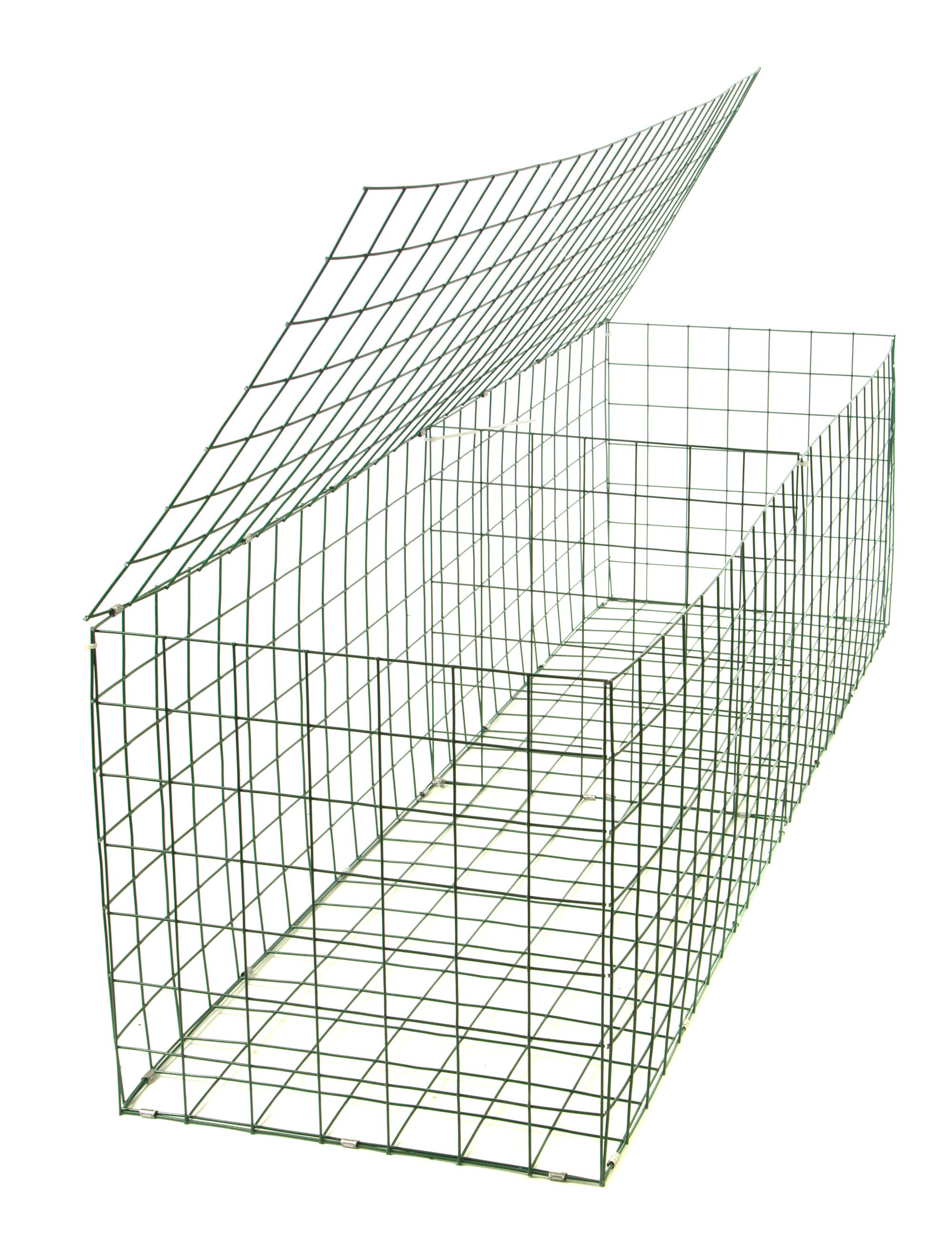 Gabion Basket Green Pvc 3mm 2m X 0 5m X 0 5m Retaining