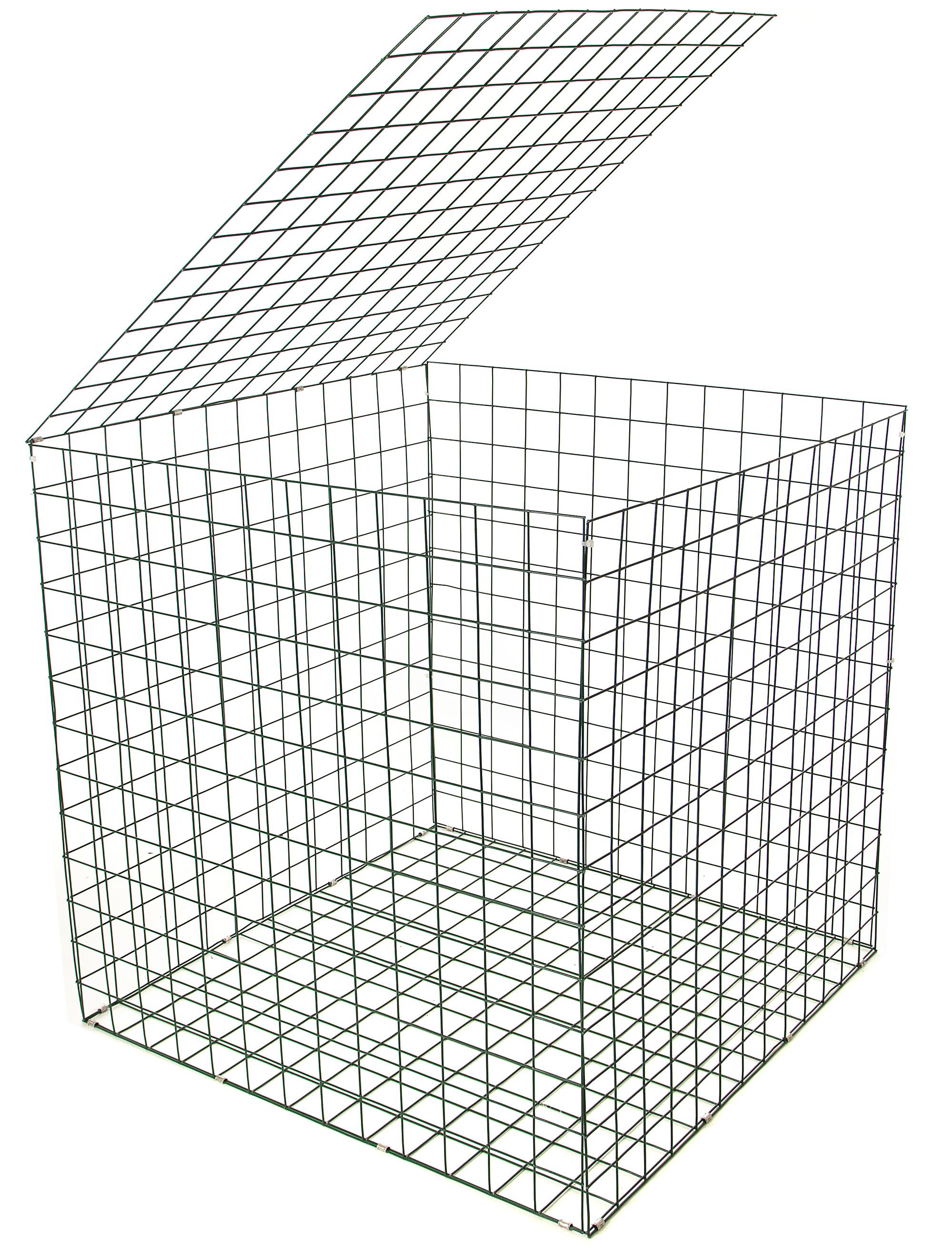 Gabion Basket Green Pvc 3mm 1m X 1m X 1m Retaining Wall