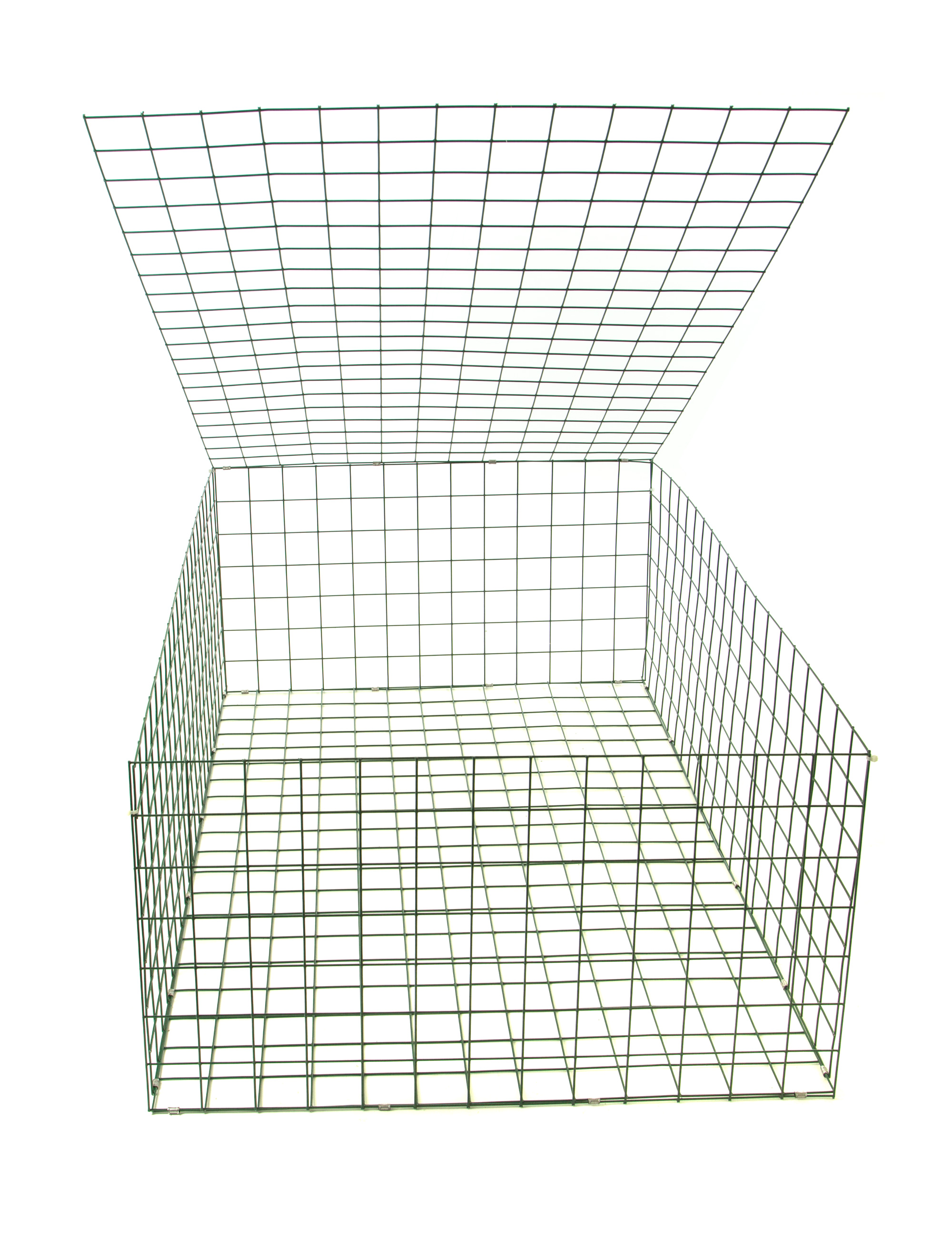 Gabion basket green pvc mm m cages