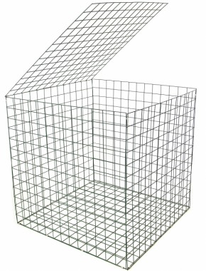 gabion 1mx1mx1m grenn pvc coated