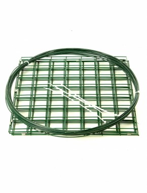 green pvc gabion basket .5mx.5m flat packed