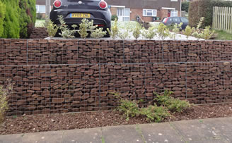 gabion parking area by chris ryall - Gabion Walls Design