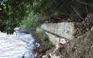 Gabion wall in Cyprus, We supply gabions across Europe.