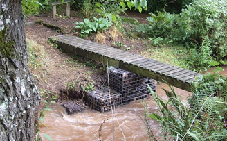 Gabion Bridge support