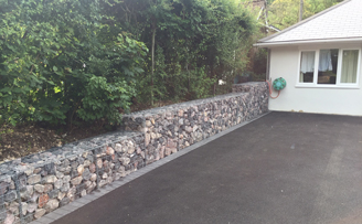 Nicoe's very smart retained driveway