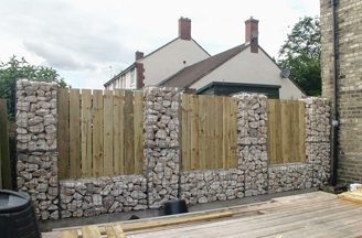 Timber_&_gabion_boundary_fence